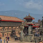 Bhaktapur Durbar Square In Kathmandu Valley, Nepal Art Print