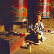 Bhutan Pilgrim Art Print