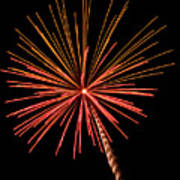 Bi-color Fireworks 2 Art Print
