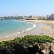 Biarritz Beach Panorama Art Print