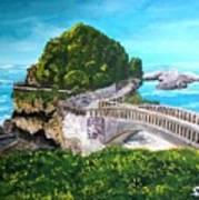 Biarritz Bridge Art Print