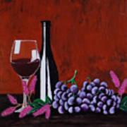 Bicchiere Di Vino Art Print