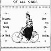 Bicycle, 1897 Art Print