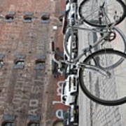 Bicycle And Building Art Print
