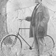 Bicycle and JD Rockefeller Vintage Photo Art Art Print