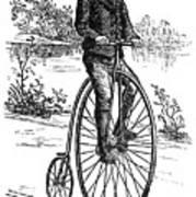 Bicycle, C1870s Art Print by Granger