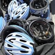 Bicycle Helmets Art Print by Photostock-israel
