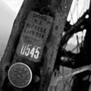 Bicycle License Art Print