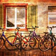 Bicycle Line-up Art Print
