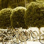Bicycle Park 2 Art Print