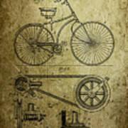 Bicycle Patent  1890 Art Print