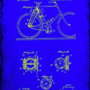Bicycle Patent Drawing 4b Art Print