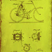 Bicycle Patent Drawing 4d Art Print