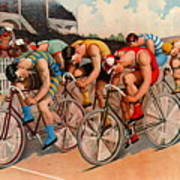 Bicycle Race 1895 Art Print