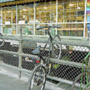 Bicycle Rack Art Print