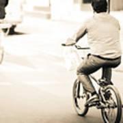 Bicycle Rider Art Print