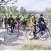 Bicycle Tourists, 1896 Art Print by Granger