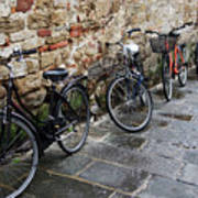 Bicycles In Rome Art Print