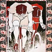 Bicycling Poster, 1896 Art Print