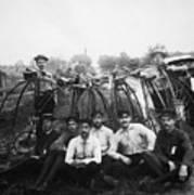 Bicyle Riders, C1880s Art Print
