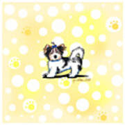 Biewer Terrier Banana Cream Art Print