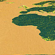Big Abstract World Map  Art Print