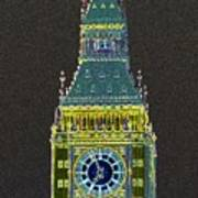 Big Ben Glowing Art Print