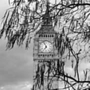 Bw Big Ben London Art Print