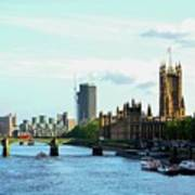 Big Ben, Parliament And River Thames Art Print