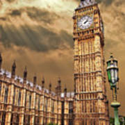 Big Ben's House Art Print by Meirion Matthias