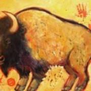 Big Bison Totem Art Print