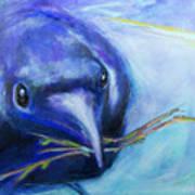 Big Blue Bird Art Print