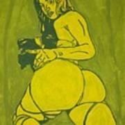 Sexy Green Woman  Art Print
