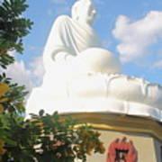 Big Buddha Statue At The Long Son Pagoda In Nha Trang Vietnam Art Print