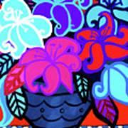 Big Colorful Lillies 2 Art Print