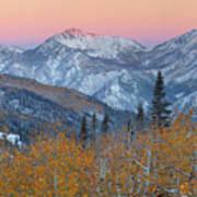 Big Cottonwood Canyon Wasatch Sunrise Art Print
