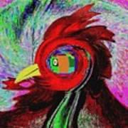 Big Fat Red Hen Art Print