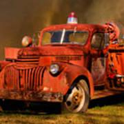 Big Fire - Old Fire Truck Art Print