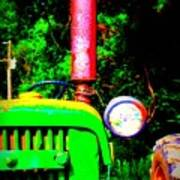 Big Green Tractor 2 Art Print