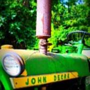 Big Green Tractor Art Print