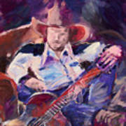 Big Hat Big Guitar Art Print