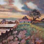 Big Lake Sunset Art Print