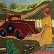 Big Mama Red Truck Art Print