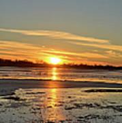 Big Marsh Sunset 4 Art Print