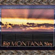 Big Montana Sky Art Print