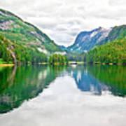 Big Mountain Reflections In Patterson Bay Alaska Art Print