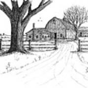Big Oak Dairy Farm Art Print