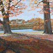 Big Oaks In Fall Art Print