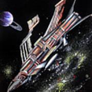 Big, Old Space Shuttle Of Dead Civilization Art Print
