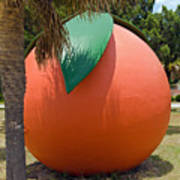 Big Orange At Melbourne On The East Coast Of Florida Art Print